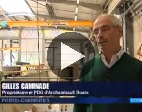 gilles caminade interview france 3 archambault boats